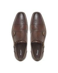 Dune Brown Scope Saffiano Formal Monk Shoe for men
