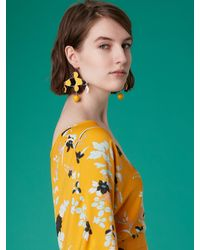 Diane von Furstenberg Multicolor Abstract Color Block Earrings