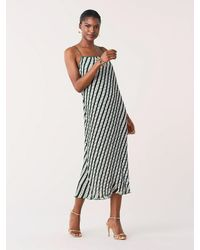 Diane von Furstenberg Multicolor Novalee Pleated Midi Dress