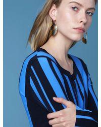 Diane von Furstenberg - Metallic Hammered Hoop Earrings - Lyst
