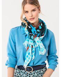 Diane von Furstenberg Blue Costa Modal Rectangle Scarf