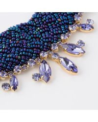 Paul Smith Blue Women's Navy Beaded And Aqua 'cleopatra' Necklace