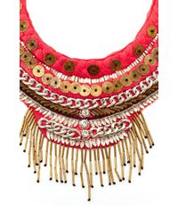 Mignonne Gavigan | Red Petite Layne Beaded Coral Silk Necklace | Lyst