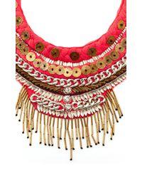 Mignonne Gavigan - Red Petite Layne Beaded Coral Silk Necklace - Lyst