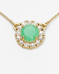 kate spade new york Green Secret Garden Mini Pendant Necklace 16