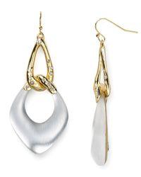 Alexis Bittar | Metallic Lucite Liquid Link Dangle Earrings | Lyst