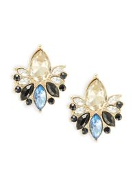 Cara | Blue Clustered Stud Earrings | Lyst