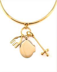 Chloé Metallic Cross, Fork, Harlow Bracelet