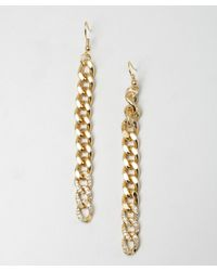 Joanna Laura Constantine | Metallic Gold and Crystal Chain Link Earrings | Lyst