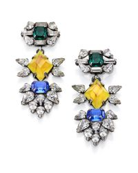 DANNIJO | Yellow Dorothy Crystal Drop Earrings | Lyst