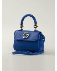 Philipp Plein Blue Baby Pretty Leather Shoulder Bag