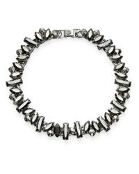 R.j. Graziano | Metallic Teardrop Stone Collar Necklace | Lyst