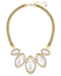 Swarovski | Metallic Gold-tone Pvd Large Crystal Necklace | Lyst