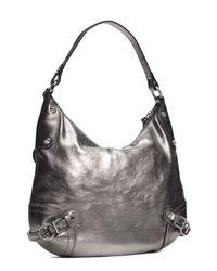 Michael Michael Kors Large Fallon Hobo Shoulder Bag Nickel
