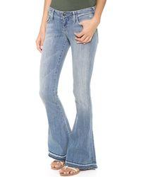 True Religion Blue Joey Flare Womens Jean