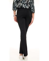 NYDJ Black Slim Straight Trousers