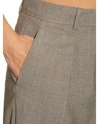 Max Mara Studio | Gray Malaga Trousers | Lyst