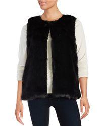 Cece by Cynthia Steffe | Black Faux Fur Vest | Lyst