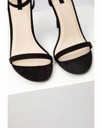 Forever 21 Black Ankle Strap Heels