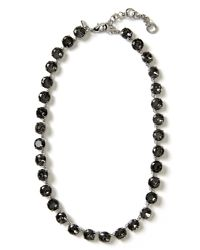 Banana Republic | Gray Crystal Statement Necklace | Lyst