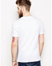 ASOS White T-Shirt With Bound Crew Neck And Ribbed Jersey for men