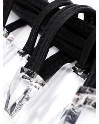 Monies Black Large Pendants Necklace
