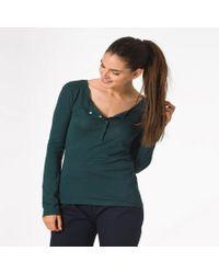 Petit Bateau | Green Women's Tunisian Neck Long-sleeved Tee | Lyst