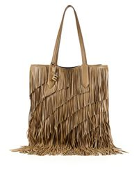 Elizabeth and James | Natural Scott Fringed Leather Tote | Lyst