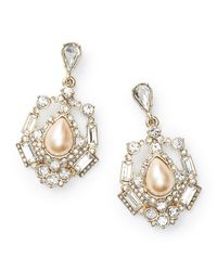 Ann Taylor - Metallic Pearlized Blush Dangle Earrings - Lyst