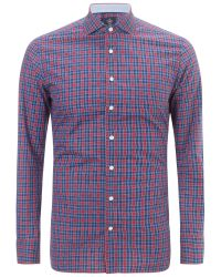 Hackett Blue Check Shirt for men