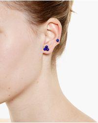 Yvonne Léon | Metallic 18K Gold And Lapis Epingle Earring | Lyst