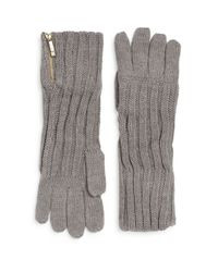 Ivanka Trump | Gray Engineered Zip Gloves | Lyst