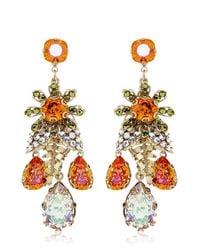 Bijoux Heart Orange Burst Earrings