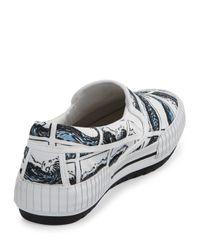 KENZO | White Mens Hevyn Wave-Print Slip-On Sneaker for Men | Lyst
