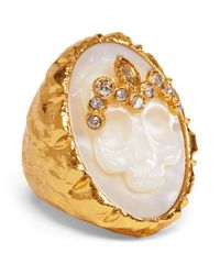 Alexis Bittar | Metallic Elements Mother Of Pearl Skull Cameo Ring | Lyst