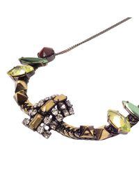 Iosselliani | Metallic Rhinestones Necklace | Lyst