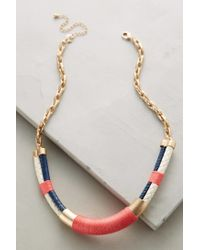 Anthropologie - Pink Nautical Necklace - Lyst