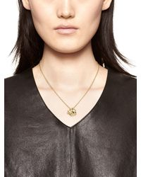 kate spade new york - Metallic Born To Shine Clover Charm Necklace - Lyst