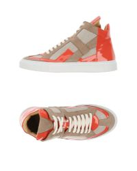 MM6 by Maison Martin Margiela - Pink High-tops & Trainers - Lyst