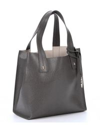 Furla - Gray Mist Leather 'Musa' Top Handle Tote - Lyst