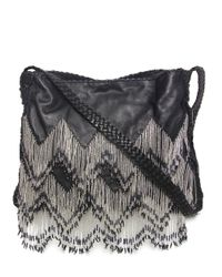 En Shalla | Black Beaded Cross Body Bag | Lyst