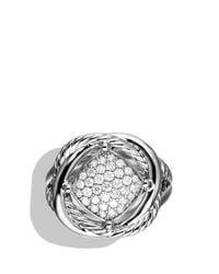 David Yurman - Metallic Infinity Ring With Diamonds - Lyst