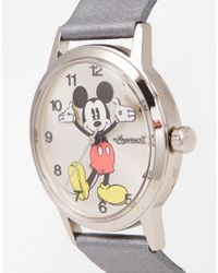 Disney | Metallic Silver Mickey Mouse Watch | Lyst