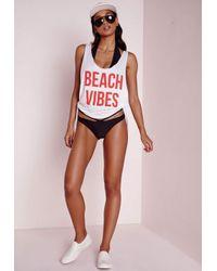 Missguided - Cross Front Bikini Set Black - Lyst