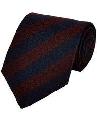 Giorgio Armani - Diagonal-Striped Jacquard Necktie-Red for Men - Lyst
