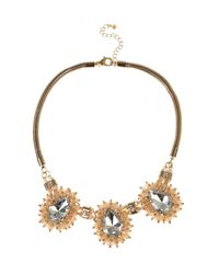 Coast - Metallic Cady Cluster Necklace - Lyst