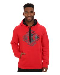 Under Armour | Red Ua Rival Cotton Chest Camo Graphic Hoodie for Men | Lyst