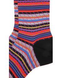 Ayamé   Black Multicolor Stripy Socks for Men   Lyst