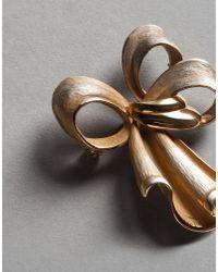 Dolce & Gabbana - Metallic Bow Brooch - Lyst