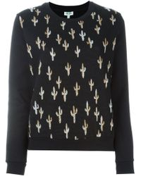 KENZO Black 'cactus' Sweatshirt for men